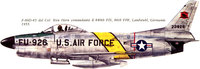 North American F-86D/K/L/F-95A Sabre Dog | 52-3926 | FU-926