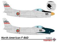 North American F-86D/K/L/F-95A Sabre Dog | s/n.14105 | 105