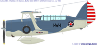 Curtiss SBC Helldiver | BuNo.4222 | 1-W-1
