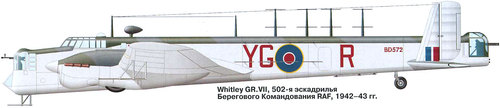Armstrong Whitworth AW.38 Whitley | BD572 | YG-R