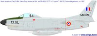 North American F-86D/K/L/F-95A Sabre Dog | 55-4839 | 13.GL
