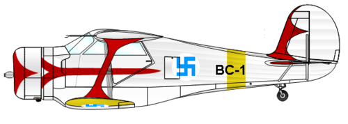 Beech Model 17 Staggerwing/Traveller | ex ZS-BBC, during transportation as OH-BCI | BC-1 (ex ZS-BBC, во время перегона OH-BCI)