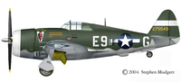 Republic P-47 Thunderbolt | 42-75549 | E9-G