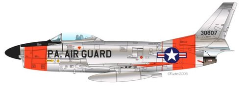 North American F-86D/K/L/F-95A Sabre Dog | 53-0807 | 30807