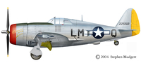 Republic P-47 Thunderbolt | 42-25512 | LM-Q