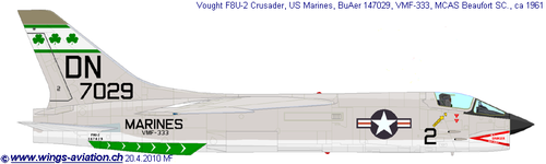 Vought F8U/F-8 Crusader | BuNo.147029 | 2/DN