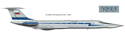 Tupolev Tu-134/Tu-135 Crusty | Blue 20