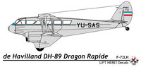 de Havilland DH.84/89/90 Dragon/Dragon Rapide/Dominie | YU-SAS